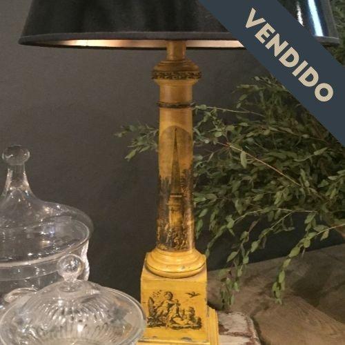 lampara amarilla antrazita