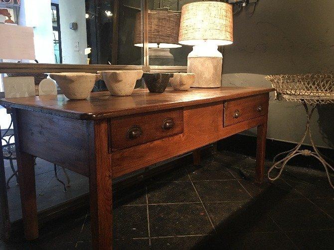 mesa castaño antrazita